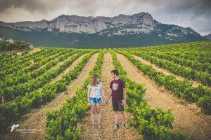 Reportaje de preboda entre viñas-Bárbara y Sergio